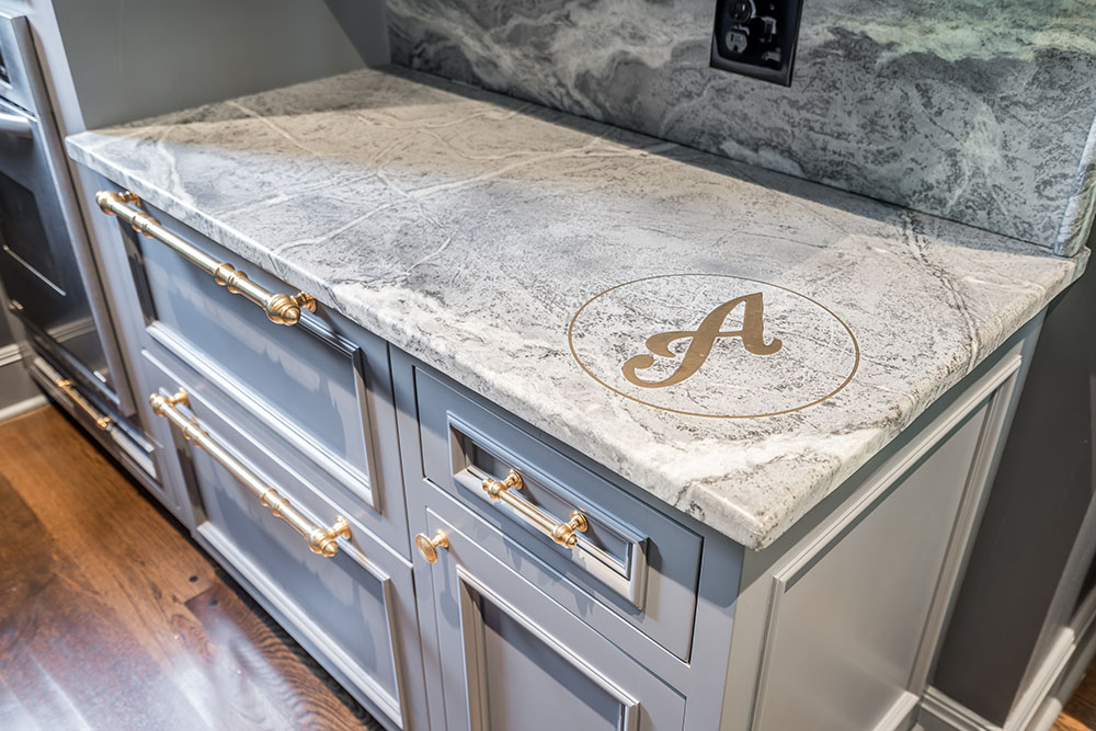 Custom Kitchen Counter Space With Initial